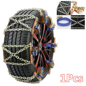 Steel Car Tire Mud Snow Anti Skid Chains Emergency Driving Wheel Safety Chain Fits Chevrolet