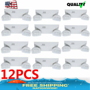 Lot Of 6 12 Packs All Led Exit Sign Emergency Light Dual Square Head Combo Ul