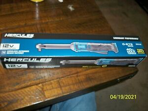 Hercules 12v Lithium ion 3 8 Cordless Extended Reach Ratchet Hd034b New