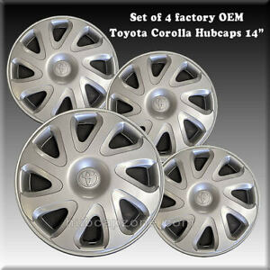Toyota Corolla Hubcaps Wheel Covers 14 2001 2002 Factory Oem 42621 ab030