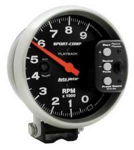 Auto Meter 5in S c 9000 Rpm Playback Tach