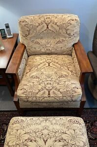 Stickley Arm Chair And Ottoman