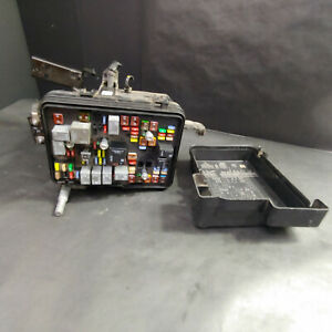 Exterior Fuse Relay Panel Box And Lid Top Assembly With Fuses And Relays Black