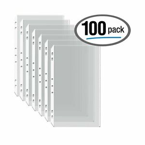100 box Legal Size Clear Heavyweight Poly Sheet Protectors By Gold Seal 8 5
