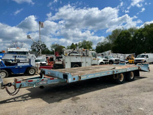 2003 Tow Master T 24 24 Deck Over Tandem Axle Equipment Trailer Hauler Used