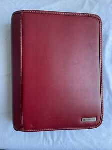 Red Classic Franklin Covey Planner 1 25 Inch Rings 10 x8 x2