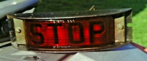 Antique Vintage Says Stop Red Tailight In Housing Dietz No 41 W 550 Glass Lens