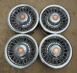 1979 1985 Appliance Fine Wire Spoke Wheels Cadillac Eldorado Riviera Toronado