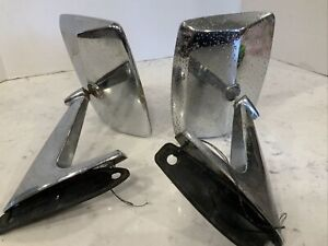Vintage Ford Truck Side Mirrors 15 3953 Mx Eotb 17c723 A Bronco