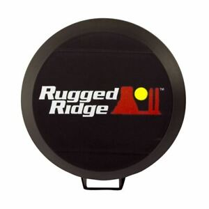 Rugged Ridge 6 Inch Hid Off Road Light Cover Black