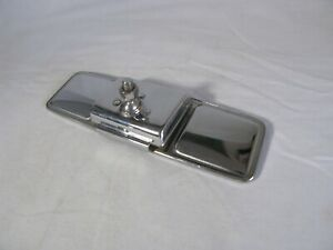 Vintage 1940 S 1950 S Automobile Chrome Night Day Glare Proof Rear View Mirror