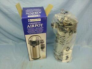 Airpot 2 2 L Select air With Glass Liner Commercial Quality Stainless Black