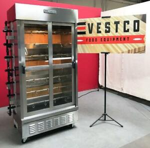 American Range acb 7l High Production 7 Spit Gas Chicken Rotisserie Oven
