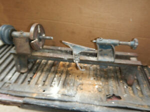 Vintage Small Wood Lathe For Parts Tailstock Headstock Tool Rest