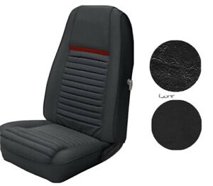 1970 Mustang Mach 1 Seat Upholstery Full Set Front And Rear Black Red