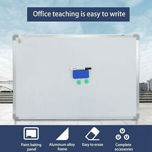 Magnetic Dry Erase Board Whiteboard Silver Aluminium Frame Board 36 X 24 In