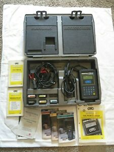 Otc Monitor 4000e Diagnostic System Scan Tool Case Manuals Cables