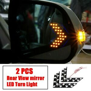 2 Car Side Rear View Mirror 14 smd Led Lamp Turn Signal Light Accessories Kit