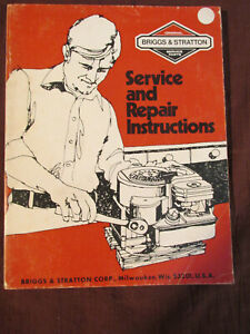 Vintage Briggs Stratton Small Engine Service Repair Manual 1984 Instructions