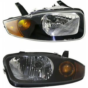 Fits 2003 2005 Chevy Cavalier Headlight Pair Side