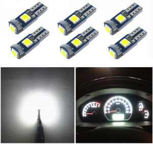 6x T5 Led Wedge Bulbs Canbus Error Free 74 73 17 Blanco Extremadamente 3030