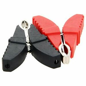Fielect 2pcs 50a Heavy duty Insulated Alligator Clips Battery Cable Clips Bat