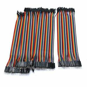 S Sydien 40pin 2 54mm Male To Male Multicolor Jumper Wire Cable Ribbon 200mm