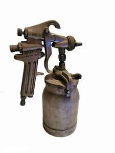 Sharpe Model 80 Paint Spray Gun And Container Used Clean Needle As Is