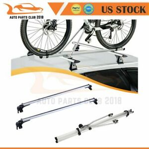 For Universal Top Roof 2x Cross Bar Top Roof Rack Carrier 1x Rack Bike