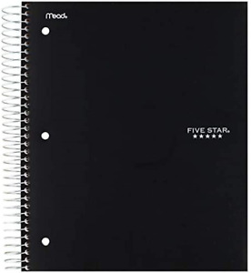 Five Star Spiral Notebook 5 Subject College Ruled Paper 200 Sheets 11 X For