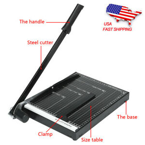12 In Heavy Duty Guillotine Paper Cutter Photo Trimmer Booking Blade A4 To B7 Us