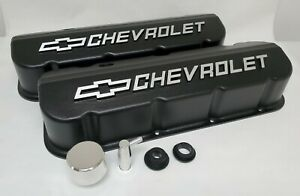 Big Block Chevy Nos Valve Covers Black Powder Coated