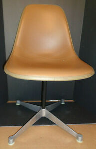 Signed Herman Miller Early Eames Design Vinyl Covered Shell Side Chair 1705
