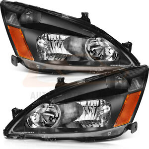 Fits Honda Accord 2003 2007 2 4dr Headlights Front Sides Pair Headlamps Assembly