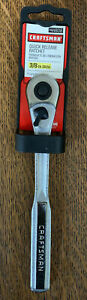 Craftsman 44808 3 8 Ratchet Socket Wrench Quick Release Long Handle Usa