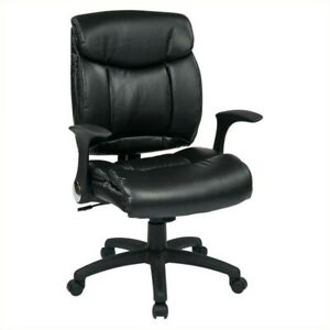 Black Faux Leather Managers Office Chair