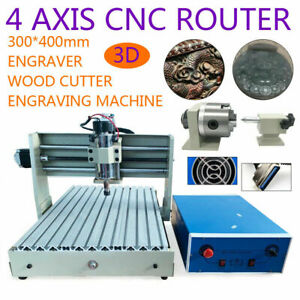 4axis Engraver Cnc 3040 Router Pcb Wood 3d Engraving Milling Drilling Machine Eu