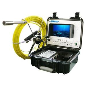 Portable 130 Ft Color Sewer drain pipe Inspection Camera