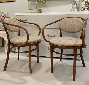 Pair Of Beautiful 1900s Thonet Style Bentwood Chairs Great Patina Poland