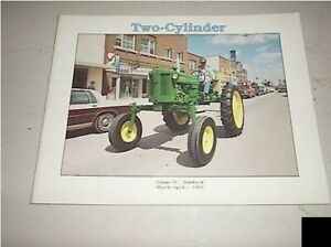 John Deere Two Cylinder Tractor Magazine March April 1993