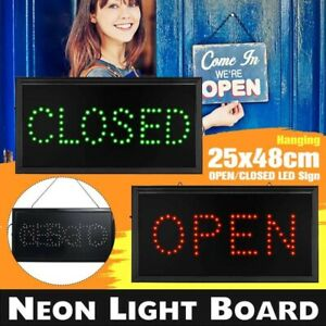 Sign Lights Store Open Closed L E D Light Neon Blinking Lamp For Business Shop