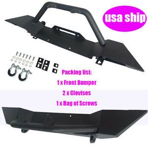 Front Bumper Winch Plate D ring Rock Crawler For 1986 2006 Jeep Wrangler Tj Yj