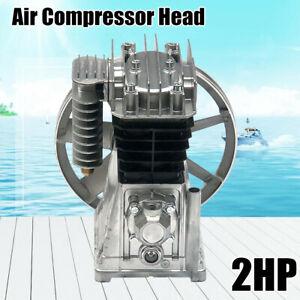 New 1 5kw Twin Cylinder Air Piston Style Compressor Pump Motor Head Air Tool