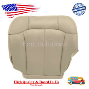 New Driver Bottom Leather Seat Cover Tan For 99 02 Chevy Tahoe Suburban Fits Tahoe