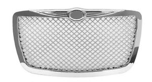Fits For 2004 2010 Chrysler 300 Chrome Grille Mesh Bentley Grill Srt Style