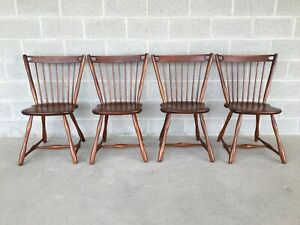 Vermont Of Winooski Mid Century Modern Maple Windsor Side Chairs Set Of 4