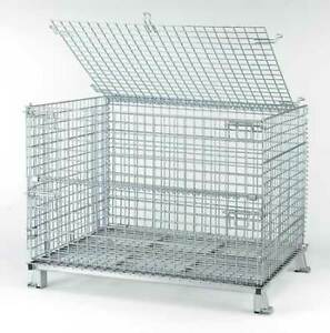 Nashville Wire C404830s4l Collapsible Container 48 w Silver