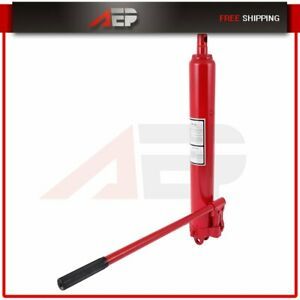 8 Ton Double Pump Long Manual Hydraulic Ram Jack Engine Lift Cherry Picker Red