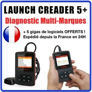 Suitcase Diagnosis Launch Creader 5 V In French Auto Suitcase Bias Com Obdii