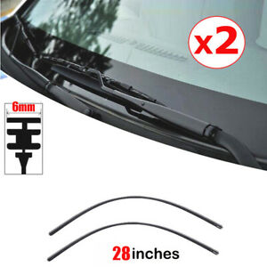 2pcs 28 Car Rubber Graphite Windshield Wiper Blade Refill Repla Accessories